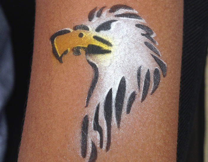 image of airbrush temporary tattoo