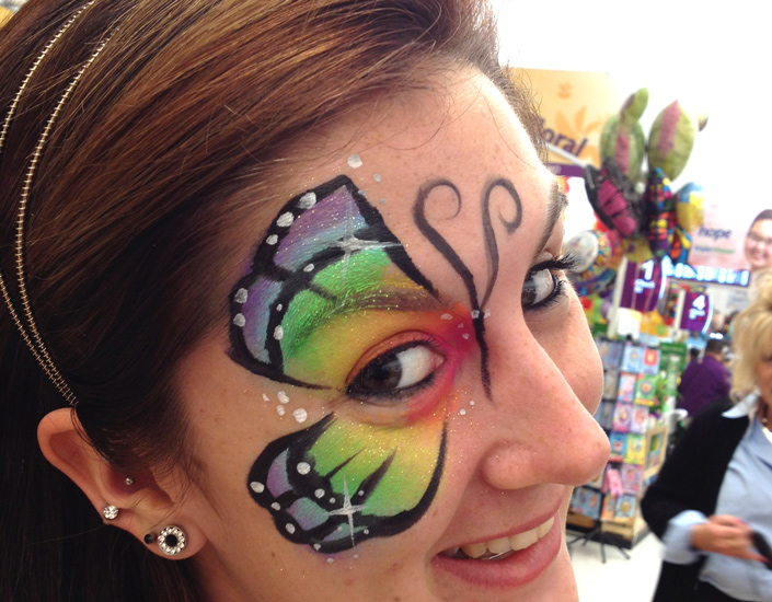 butterfly face painting by Big Grins